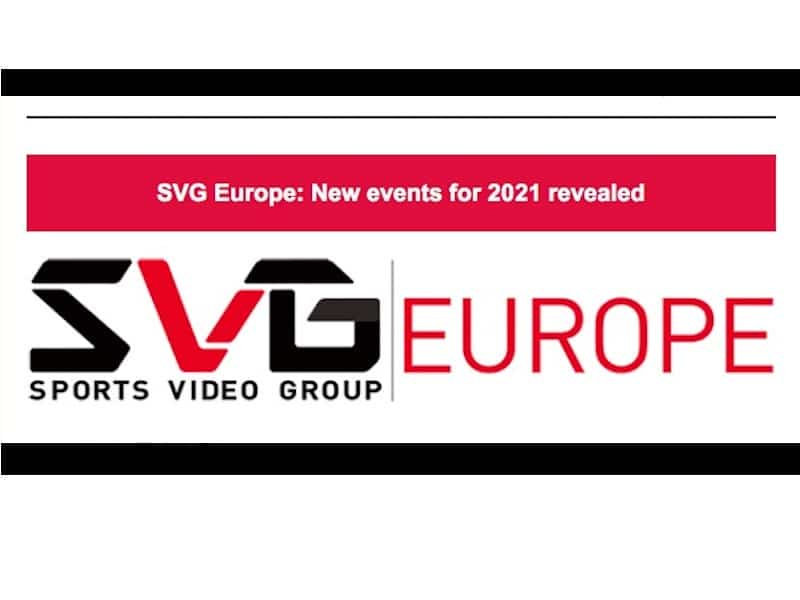 SVG Europe guarda al 2021, eventi...